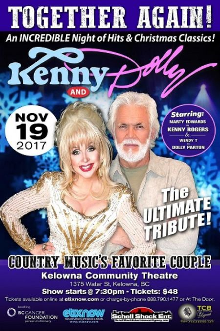 TOGETHER AGAIN!: TOGETHER AGAIN!: DOLLY AND KENNY at Kelowna Community Theatre Sun Nov 19 2017 at 7:30 pm