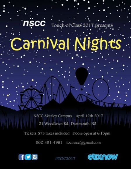 NSCC Touch of Class 2017: Carnival Nights at NSCC Akerley Campus Wed Apr 12 2017 at 6:15 pm