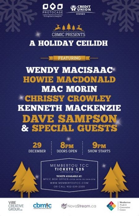 CBMIC Presents: Holiday Ceilidh at Membertou Trade & Convention Centre - Kluskap Room Thu Dec 29 2016 at 9:00 pm