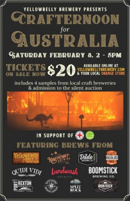 Yellowbelly Brewery Presents: CRAFTERNOON for AUSTRALIA at YellowBelly Public House Sat Feb 8 2020 at 2:00 pm