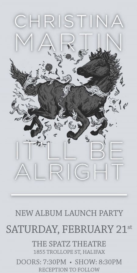 It'll Be Alright - New Album Launch Party: CHRISTINA MARTIN at Spatz Theatre Sat Feb 21 2015 at 7:30 pm