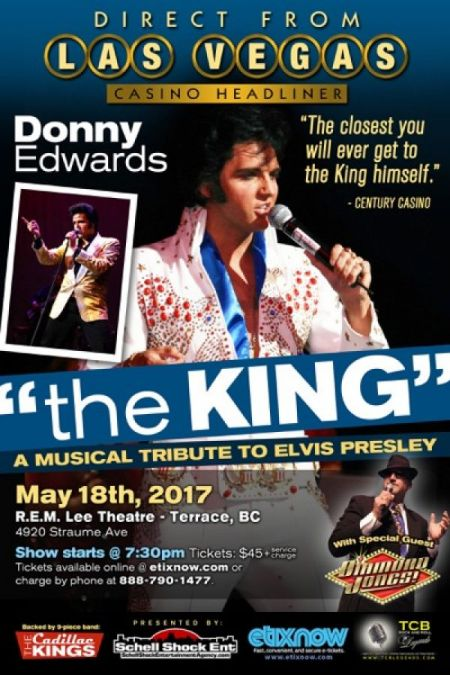 The King: A Musical Tribute to Elvis Presley: The King: DONNY EDWARDS at The R.E.M. Lee Theatre Thu May 18 2017 at 7:30 pm