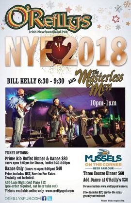 O'REILLY'S NEW YEARS EVE 2018 - MON DEC 31 2018