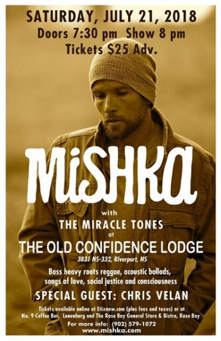 MISHKA at The Old Confidence Lodge Sat Jul 21 2018 at 8:00 pm