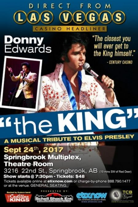 The King: A Musical Tribute to Elvis Presley: The King at Springbrook Multiplex, Theatre Room Sun Sep 24 2017 at 7:30 pm