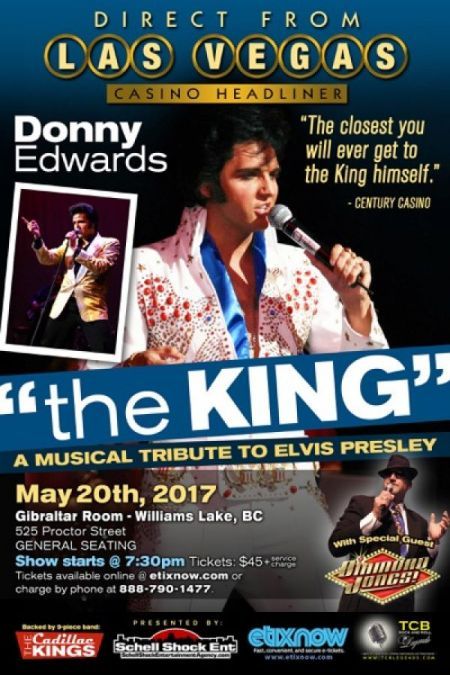 The King: A Musical Tribute to Elvis Presley: The King: DONNY EDWARDS at Gibraltar Room Sat May 20 2017 at 7:30 pm