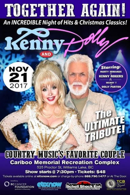 TOGETHER AGAIN!: TOGETHER AGAIN!: DOLLY AND KENNY at Cariboo Memorial Recreation Complex Tue Nov 21 2017 at 7:30 pm