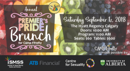 Premier's Pride Brunch for Camp fYrefly at Hyatt Regency Hotel Sat Sep 1 2018 at 11:00 am