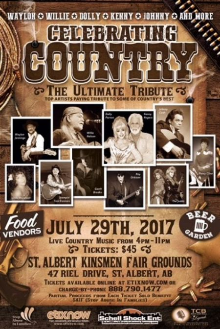 Celebrating Country: at St. Albert Kinsmen Fair Grounds Sat Jul 29 2017 at 4:00 pm