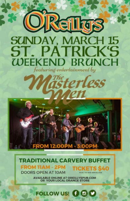 O'Reilly's Annual St. Patrick's Weekend Brunch at O'Reilly's Sun Mar 15 2020 at 10:00 am