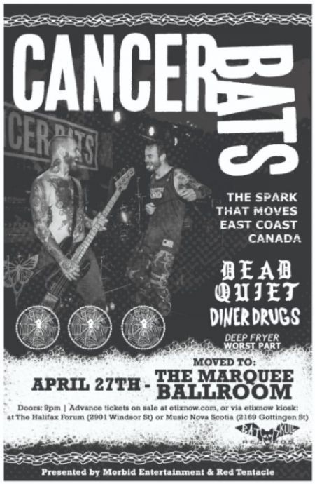 Morbid Entertainment & Red Tentacle Present: CANCER BATS at The Marquee Ballroom Sat Apr 27 2019 at 9:00 pm