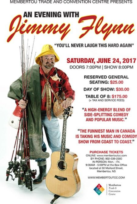 JIMMY FLYNN at Membertou Trade & Convention Centre - Kluskap Room Sat Jun 24 2017 at 8:00 pm