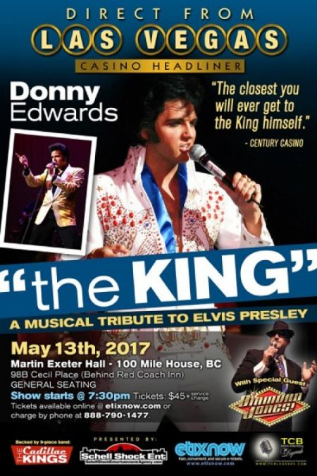 The King: A Musical Tribute to Elvis Presley: The King: DONNY EDWARDS at Martin Exeter Hall Sat May 13 2017 at 7:30 pm