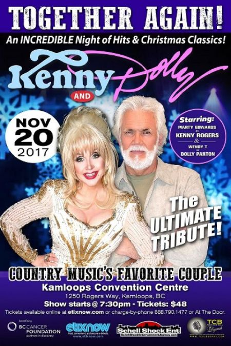 TOGETHER AGAIN!: TOGETHER AGAIN!: DOLLY AND KENNY at Kamloops Convention Centre Theatre Mon Nov 20 2017 at 7:30 pm